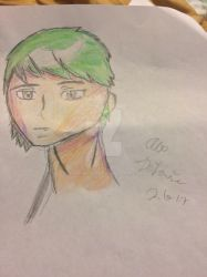 Anime Boy head in 3/4 view sketch by Sthenic02