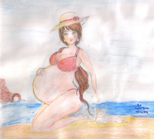 Beach :3 by OfaMightDivine