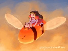 Bee and puppycat by Ivanobich