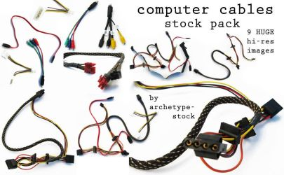 Computer Cables Pack by archetype-stock