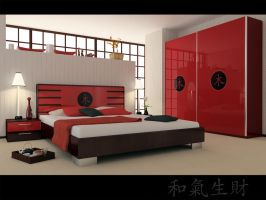 asia style bedroom by zigshot82