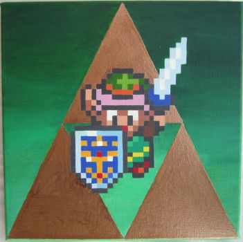 A Link to the Triforce by PixelArtPaintings