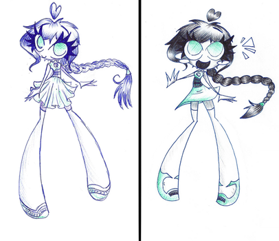 Same Girl, Different Drawings by Chr-ali3