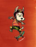 Skater Dog by RobbVision