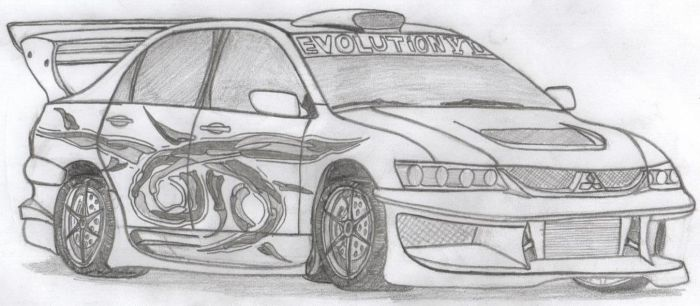Mitsubishi Lancer Evolution 8 by HYPOTHRAXER