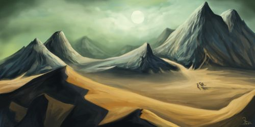 Traversing the Great Desert by Aziore