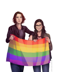 Alex Danvers and Elena Alvarez by plastic-pipes