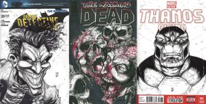 Villains Month Covers by WEXAL