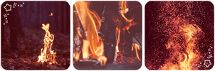 Fire deco divider by Martith