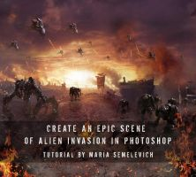 Create an Epic Scene of Alien Invasion by MariaSemelevich
