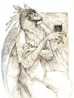 Wine Gryphon by caramitten