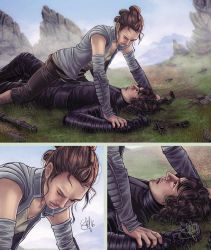 Rey vs Kylo Ren he lost again by clefchan