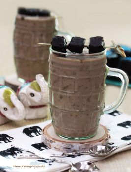Blew My Mind...Chocolate Fudge Brownie Milkshake by theresahelmer