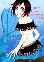 Ruby the Mermaid by nikkaSkye