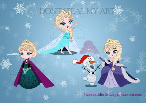 Com CHIBI ELSA by MoonchildinTheSky