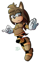G: Bronze the Long-Earred Hedgehog by KaiThePhaux