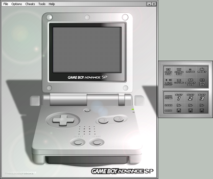 Gameboy Advance SP Skin by TheCloudOfSmoke