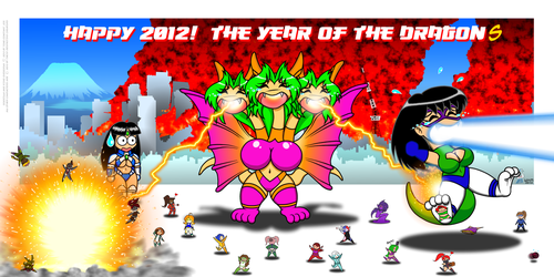 Happy 2012!  The Year of the Dragon by StretchyGalFan