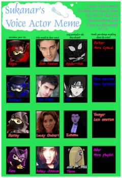 Voice Actor Meme by Sukanar by XNinjaRed