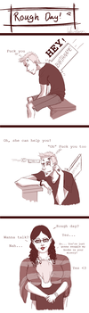 FtM Comic: Rough Day by LLDerP