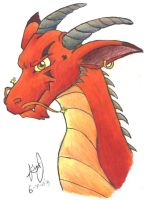 Colored Dragon, as Promised by HuntressGuya