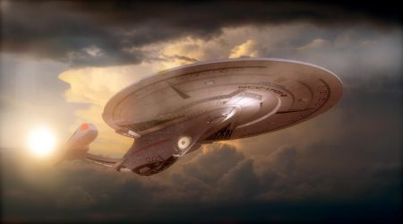 ENTERPRISE IN THE CLOUDS by PUFFINSTUDIOS