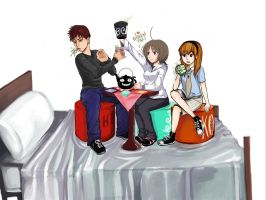 Tea Party On A Bed by hiviko