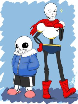Sans and The Great Papyrus  by SoulFullofLove