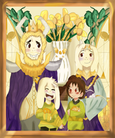 [UNDERTALE] Royal Family Portrait. by Sachiiii