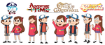Mabel y Dipper Pines Crossover by magdikulewe