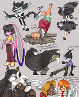 Poses Of Bendy N Friends by sheezy93
