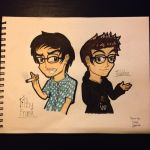 Youtubers- Filthyfrank and iDubbbz by Riyana2