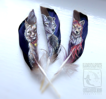 Feather Paintings by ElementalSpirits