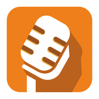 Flat microphone icon by ivprogrammer