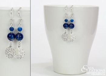 Winter Night earrings (OOAK) by petrova
