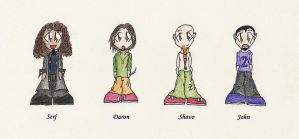 Soad Chibis Colo Version by Goldsturm