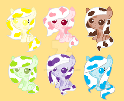 Cow ponies adopts by TheWingedSkeleton