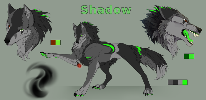 .:Commission:. Shadow reference sheet by Arankay