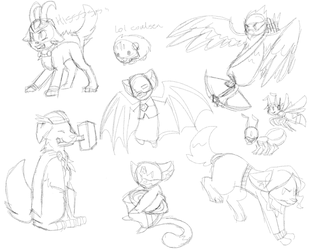 Avengimals sketches by Gameaddict1234
