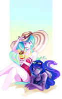 On the beach by s0901