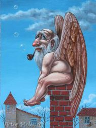 Angel of The Chimney by VictorMolev
