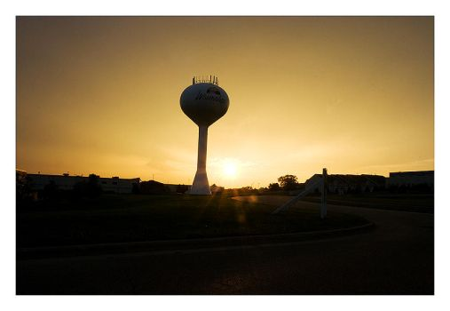 Water Tower Sunset by captg