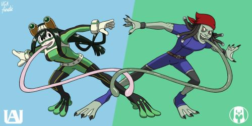 Froppy X Toad: Frog Fight by VGAfanatic