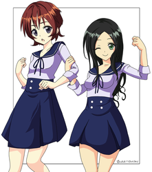 Junior Lovelies: Maria and Yui by Glee-chan