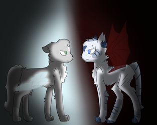 Sibling Rivalry (dovewing and ivypool) by Bright-lightz