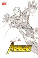 Ironman Drawing by VinRoc