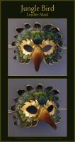 Jungle Bird - Leather Mask by windfalcon