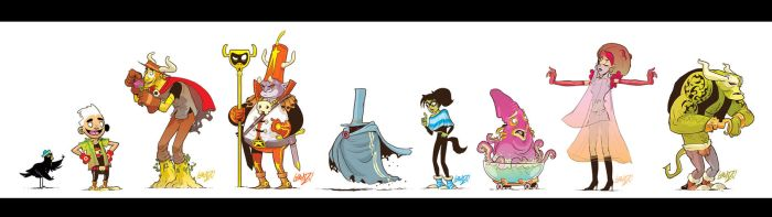 LONG GONE DON Original Character Designs by STUDIOBLINKTWICE