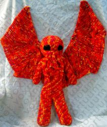 Male Cthulhu Amigurumi Doll by voxmortuum