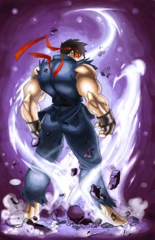 FINISHED EVIL RYU by ONELOUSYCAT